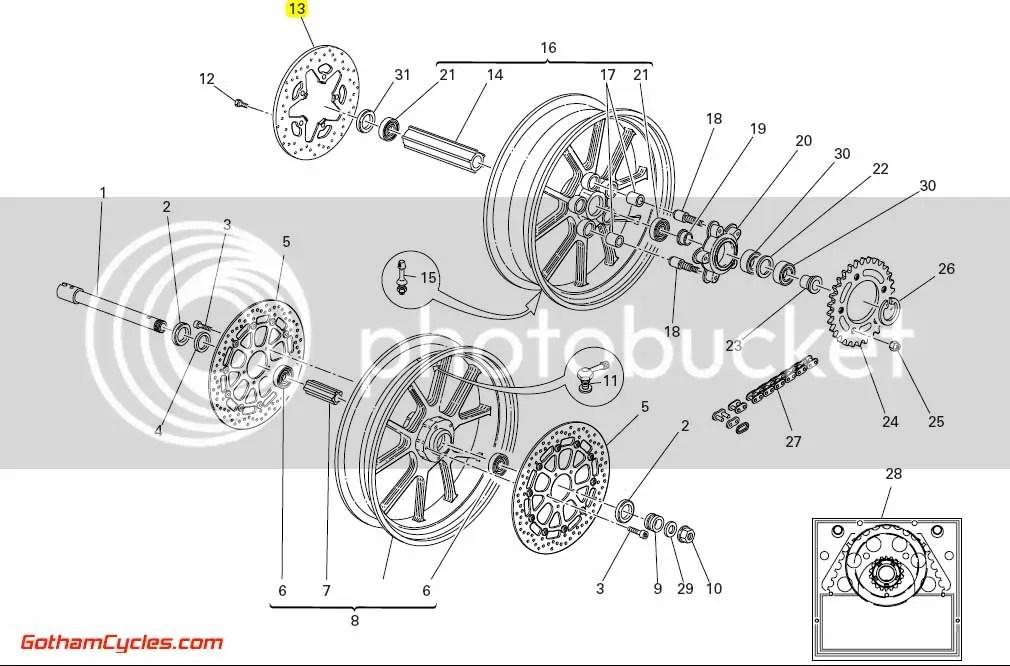 Ducati Rear Brake Rotor: 749/999 SUPERBIKE 749 749S 749R