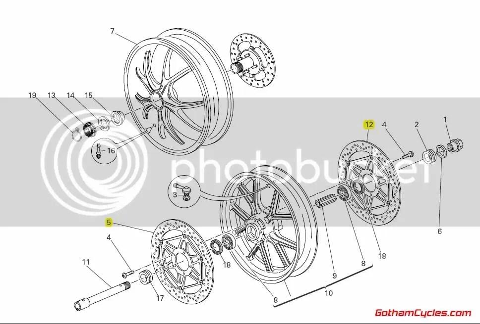Ducati Front Rotors: 1098 SUPERBIKE 1098 1098S 1098S