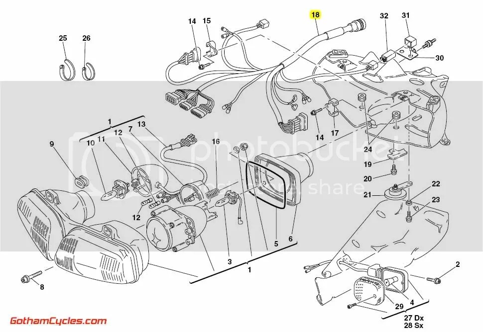 Ducati Front Wiring Harness: 996R/998 SUPERBIKE 996R 998