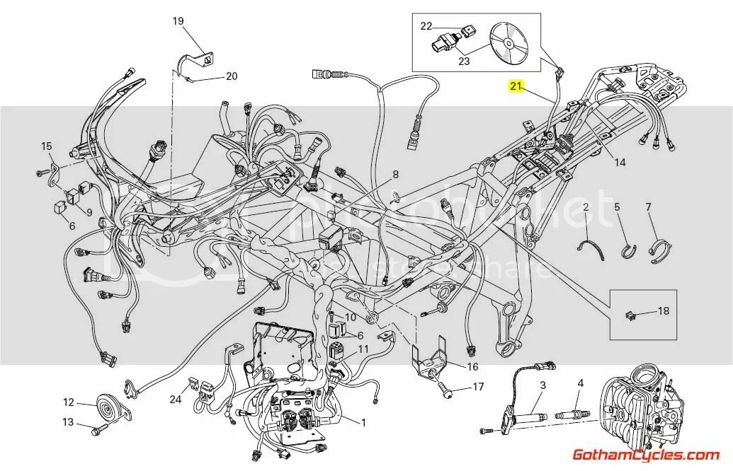 ducati data acquisition wiring harness 848 1098 superbike