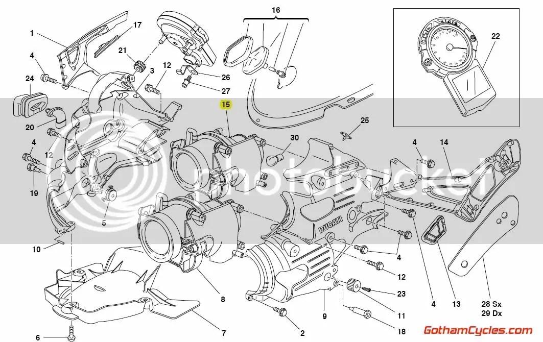 Ducati Headlight High Beam: 749/999 SUPERBIKE 749 749S