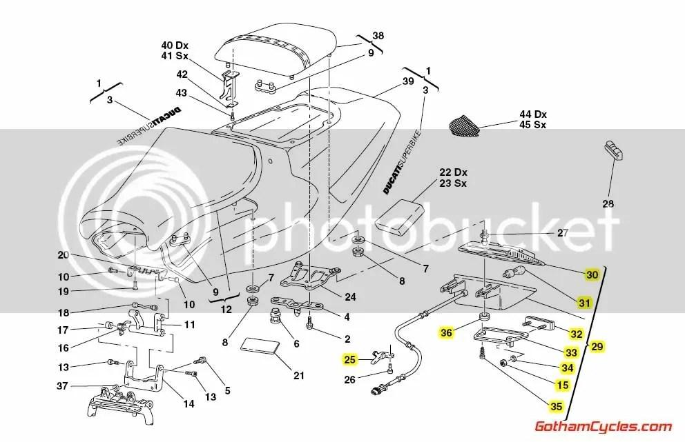 Ducati Tail Light: 748-998 SUPERBIKE 748 748S 748R 916