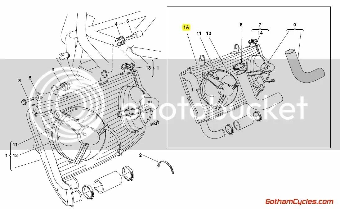 Ducati Radiator Single Outlet Style: 749/999 SUPERBIKE 749