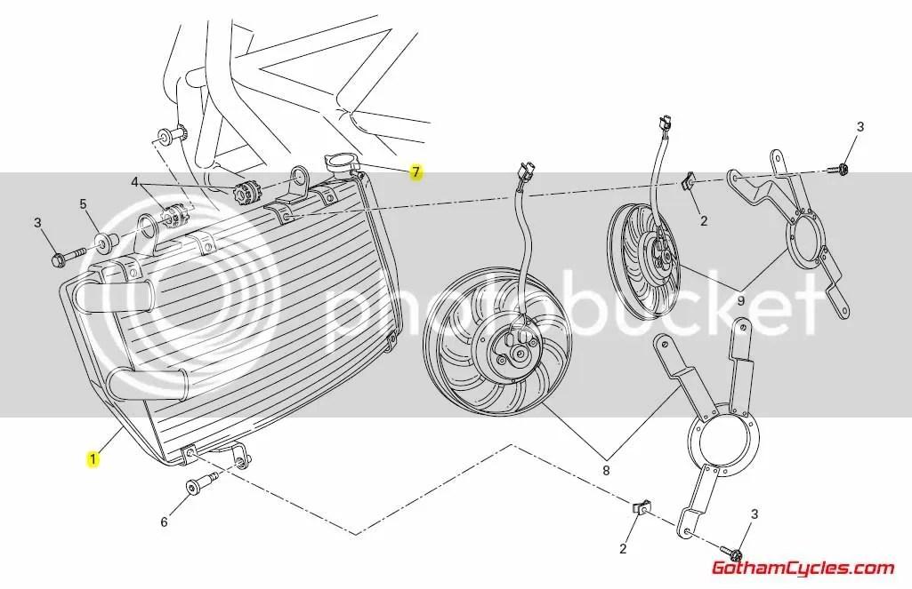 Ducati Radiator: 848/1098 SUPERBIKE 848 1098 1098S 1098S