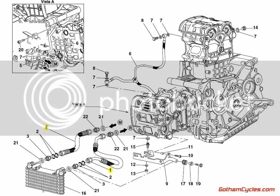 Ducati Oil Cooler Main Lines: 998 SUPERBIKE 998 998S