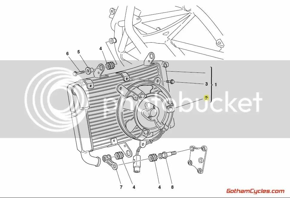 Ducati Radiator Cooling Fan: 748-996 SUPERBIKE 748 748S