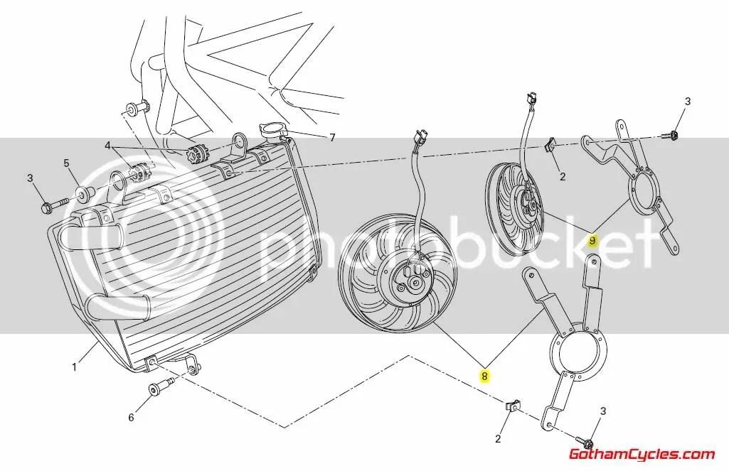 Ducati Radiator Cooling Fans: 848/1098 SUPERBIKE 848 1098