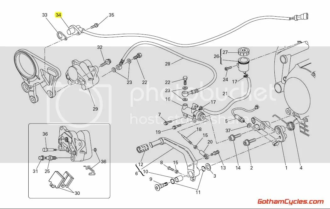 Ducati Speed Sensor Long Style SUPERBIKE 848 1098 1098S
