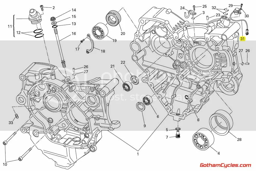 Ducati Timing Crankshaft / Crank Angle Position Sensor