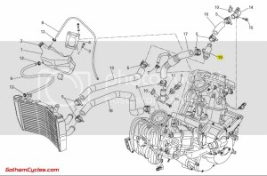 Ducati Thermostat: 8481098, S4S4RS, ST3 SUPERBIKE 848