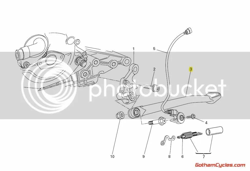 Ducati Kickstand Side Stand: 848/1098 SUPERBIKE 1098 1098S