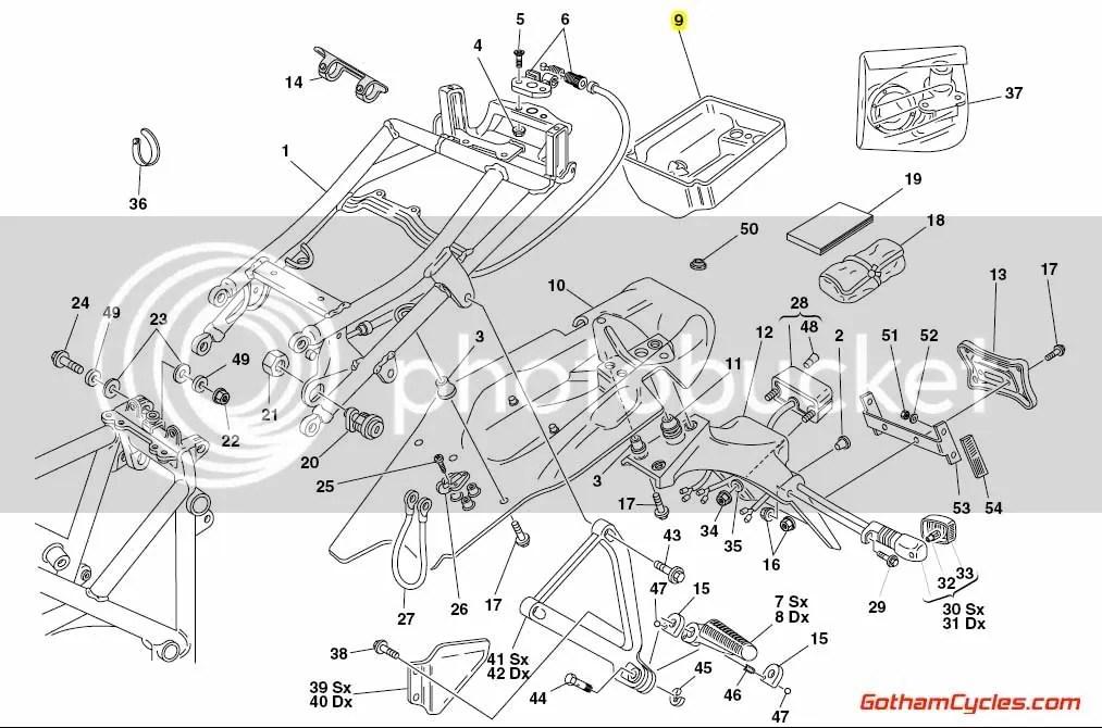 Ducati Tool Tray: 748-998 SUPERBIKE 748 748S 916 996 998
