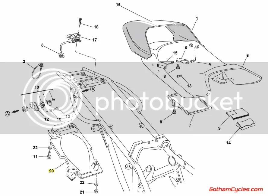 Ducati Undertray: Monster 56510172A MONSTER 400 400S 600