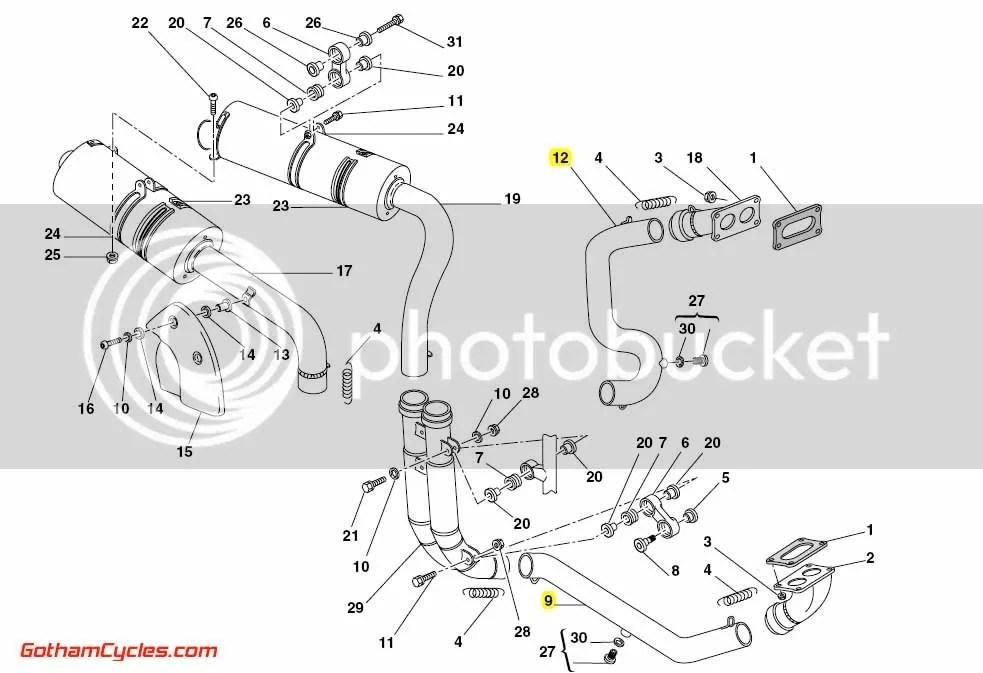 Ducati 45mm Exhaust Header headers pipe Pipes: 998