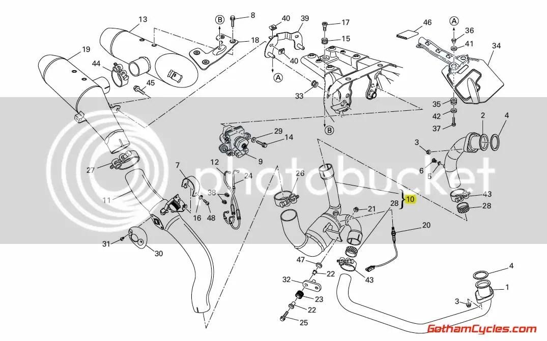 Ducati Exhaust Collector Pipe: Hypermotard 1100 57221451A