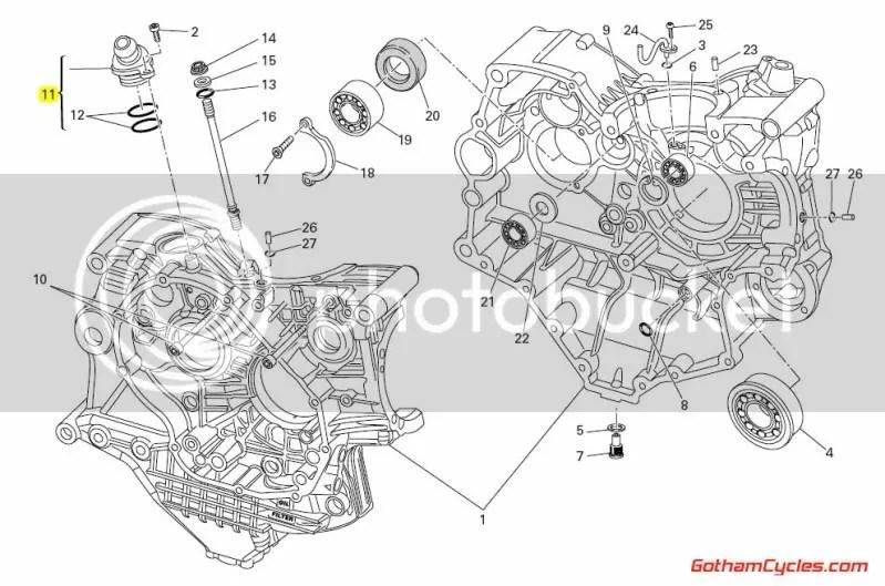 Ducati Oil Crankcase Breather Valve: 848-1198 SUPERBIKE