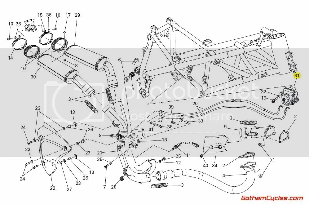 Ducati Exhaust Valve Motor: 848/1098, HM SUPERBIKE 848