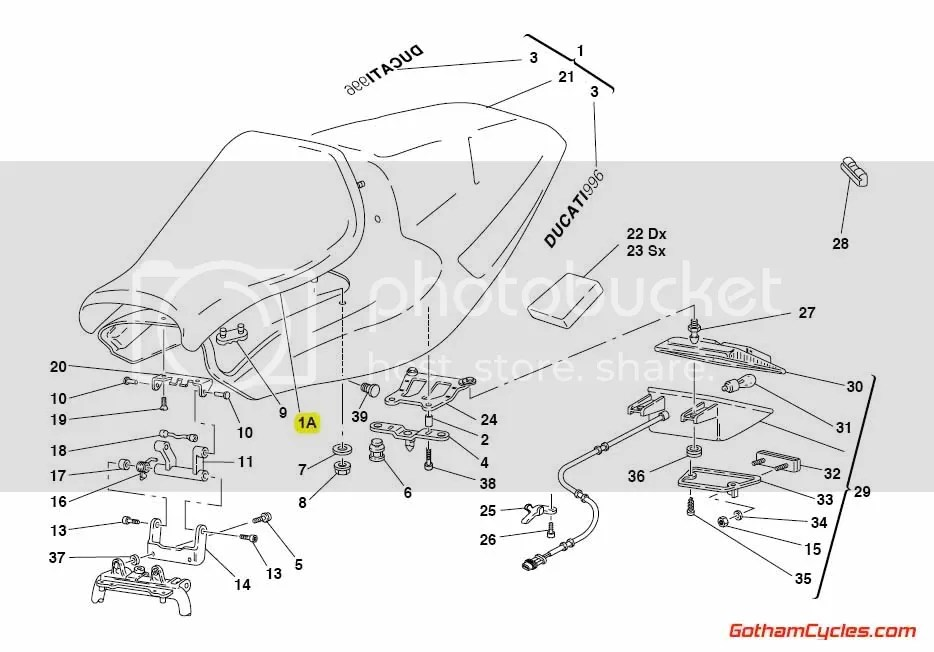 Ducati Monoposto Front Seat: 748-998 SUPERBIKE 748 748S
