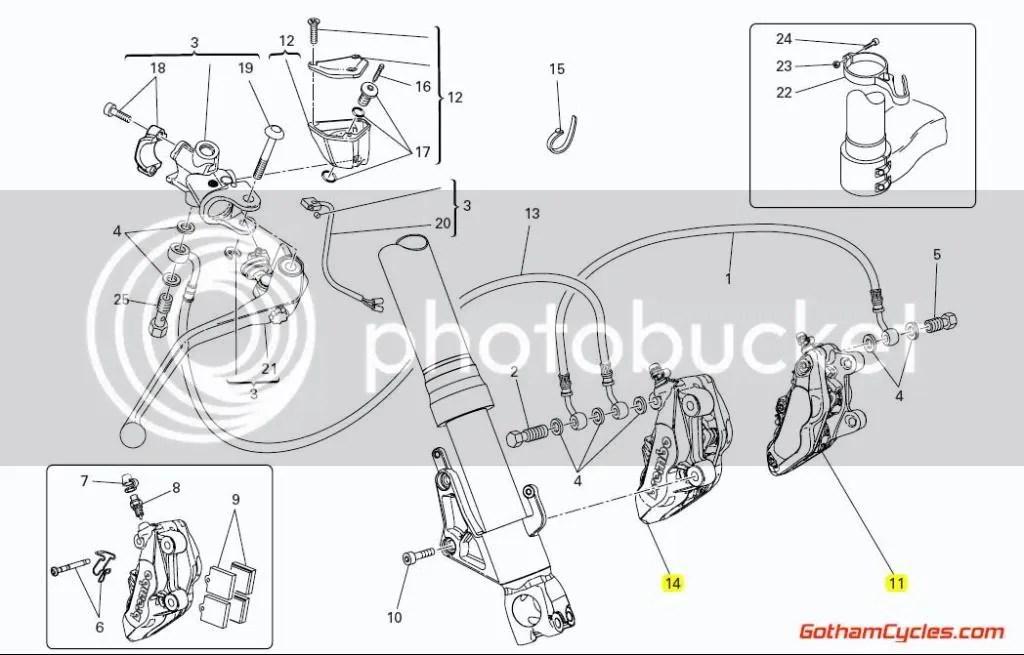 Ducati Brembo Front Brake Calipers Axial: 65mm 4 Pad