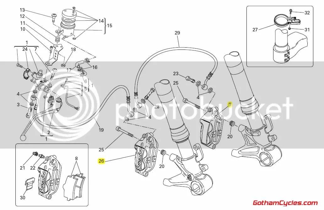 Ducati Brembo Front Brake Calipers: 100mm 2 Pad SUPERBIKE