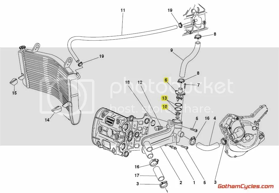 Ducati Thermostat Early Style: 749/999 SUPERBIKE 749 749S