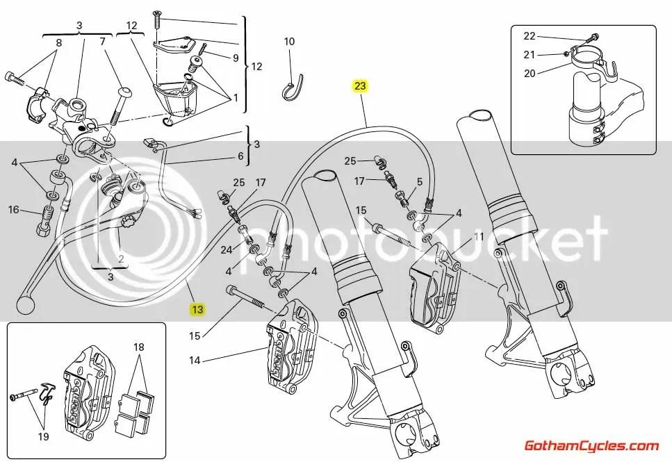 Ducati Steel Braided Front Brake Lines Radial: 749/999