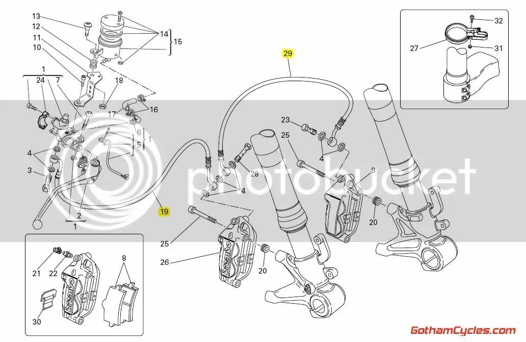 Ducati Steel Braided Front Brake Lines Radial: 1098