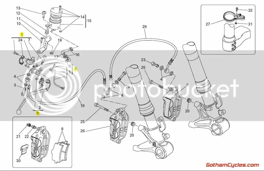 Ducati Brembo Complete Brake Master Cylinder Radial: 848