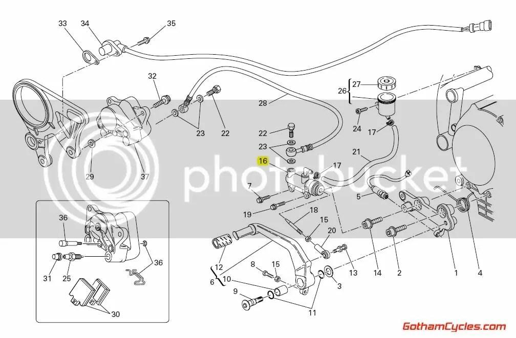 Ducati Rear Brake Master: 1098 SUPERBIKE 1098 1098S 1098S
