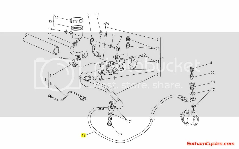 Ducati Steel Braided Rear Clutch Line: Hypermotard