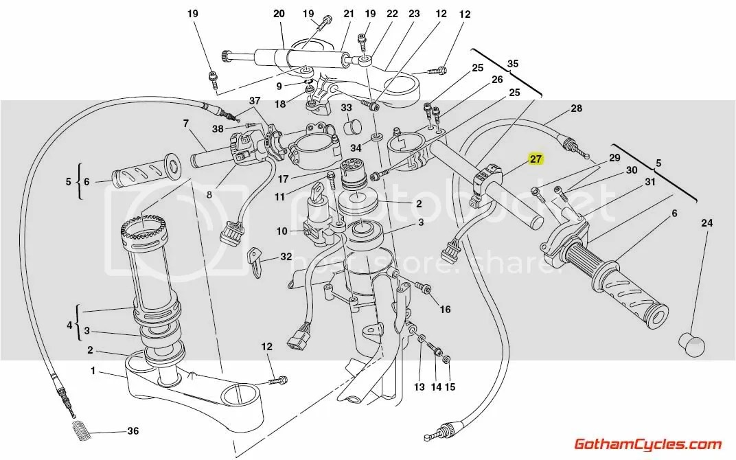 Ducati Right Hand Switch Late Style: 748-998, Monster