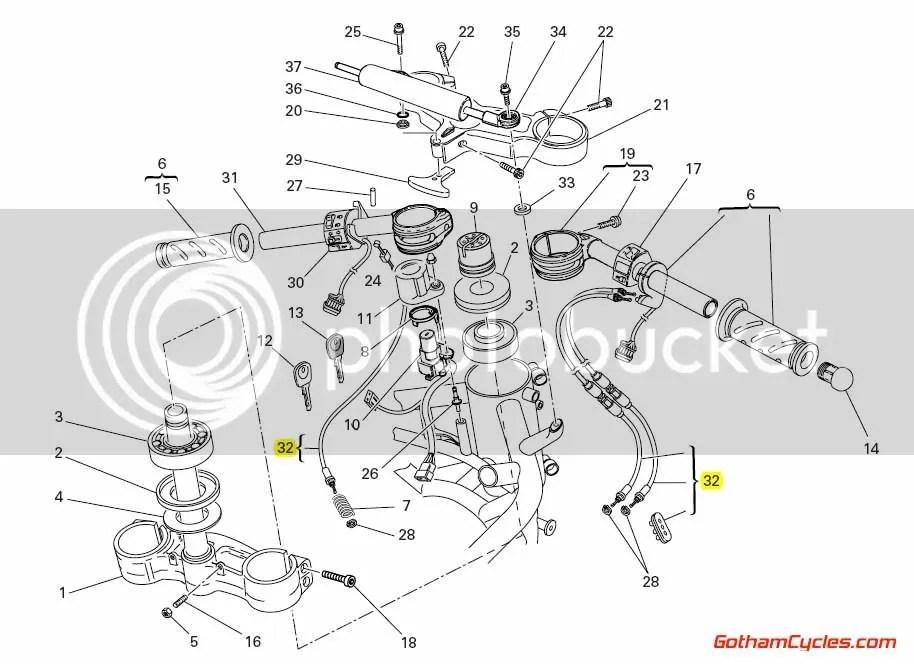 Ducati Throttle & Choke Cables: 749/999 SUPERBIKE 749 749S
