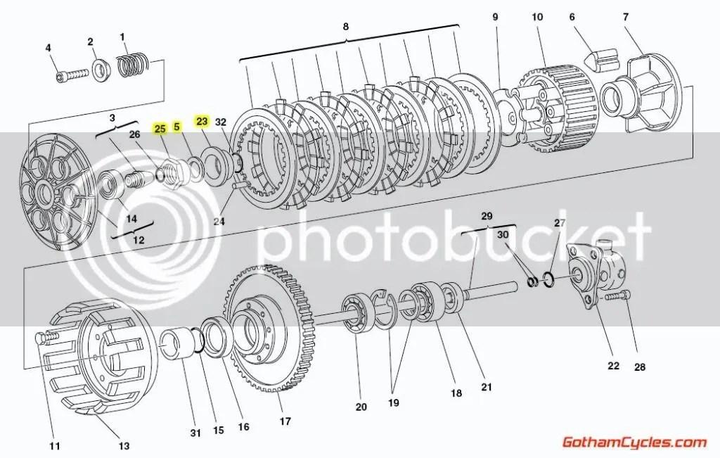 Ducati Clutch Hub Nut Bush SUPERBIKE 748 748S 916 916SPS