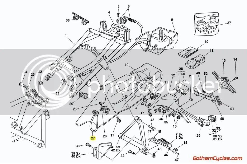 Ducati Helmet Lock Cable: 748-998 ST2/ST4 SUPERBIKE 748