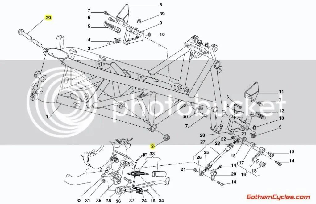 Ducati Frame Engine Mount Bolts: 748R/996R/998 SUPERBIKE