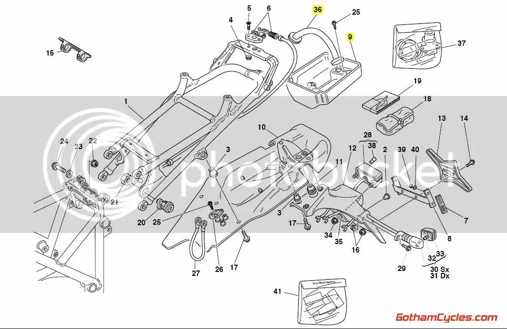 Ducati Tool Tray Monoposto: 748-998 SUPERBIKE 748 748R 916