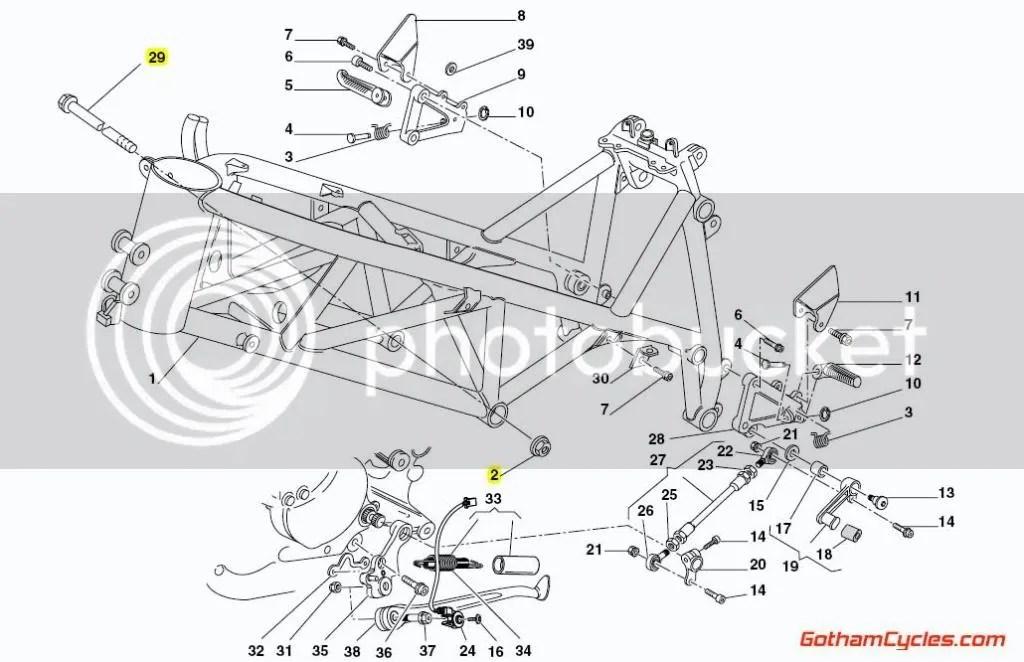 Ducati Frame Engine Mount Bolts 12mm SUPERBIKE 748 748S