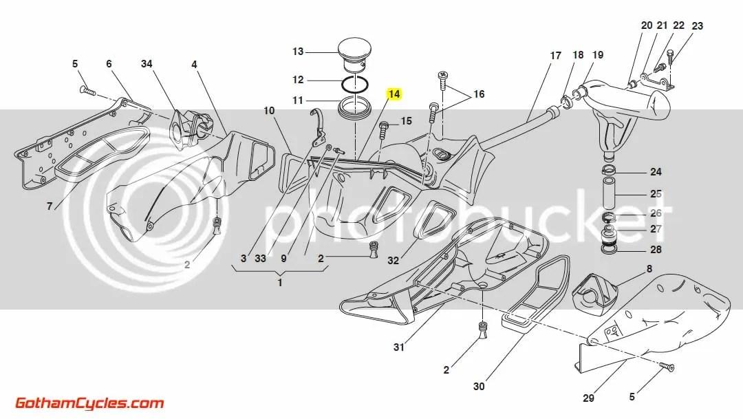 Ducati Airbox Red: 748-996 SUPERBIKE 748 748S 916 996