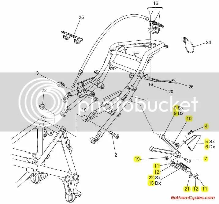 Ducati Passenger Foot Pegs: 749/999 SUPERBIKE 749 749S 999