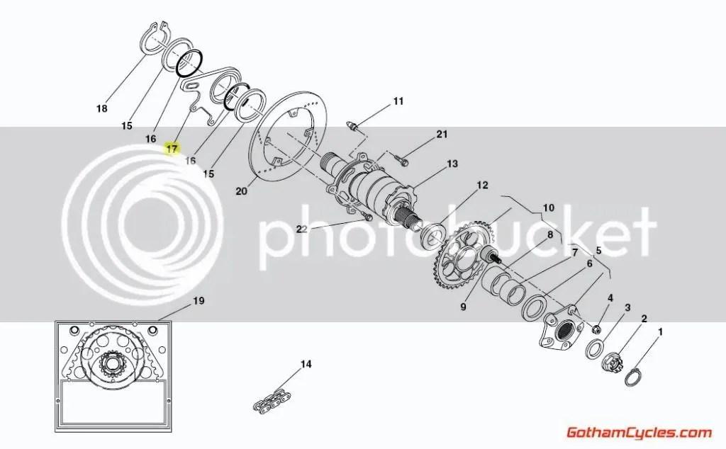Ducati Rear Brake Caliper Bracket: 748-998, MHe SUPERBIKE