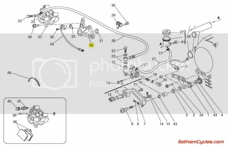 Ducati Rear Brake Caliper Bracket: 749/999 SUPERBIKE 749