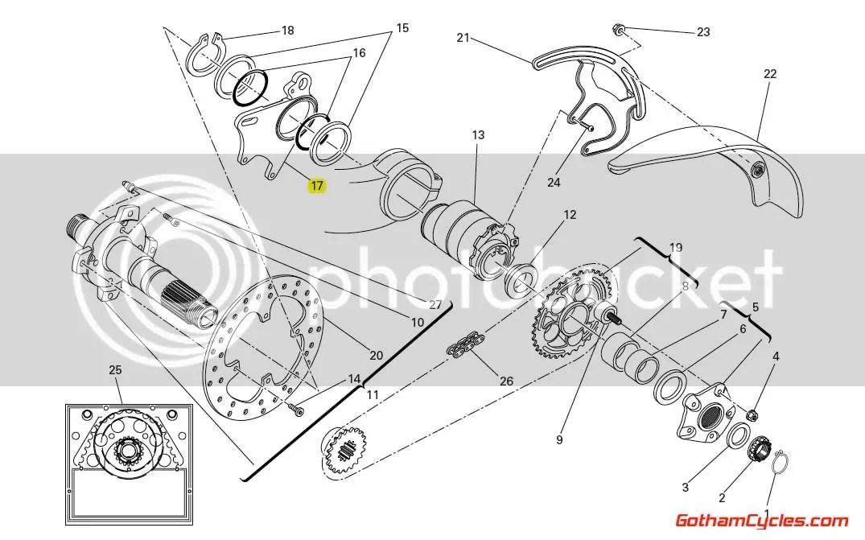 Ducati Rear Brake Caliper Bracket: Hypermotard, Monster