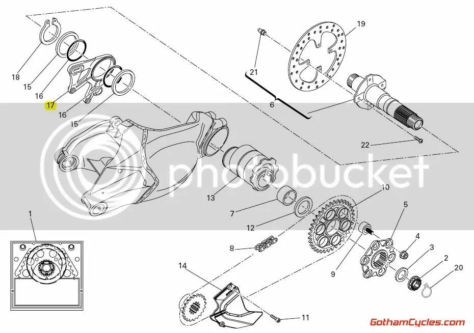 Ducati Rear Brake Caliper Bracket: 1098/1198 SUPERBIKE