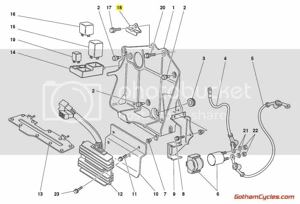 Ducati Battery Holder Plate Early Style: 748-996, ST2/ST4
