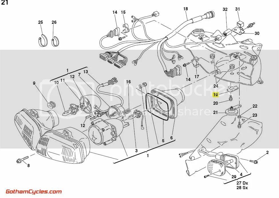 Ducati Front Wiring Harness Bracket: 748-998 SUPERBIKE 748