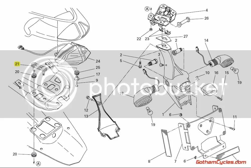 Ducati Tail Brackets: 848/1098 SUPERBIKE 848 1098 1098S