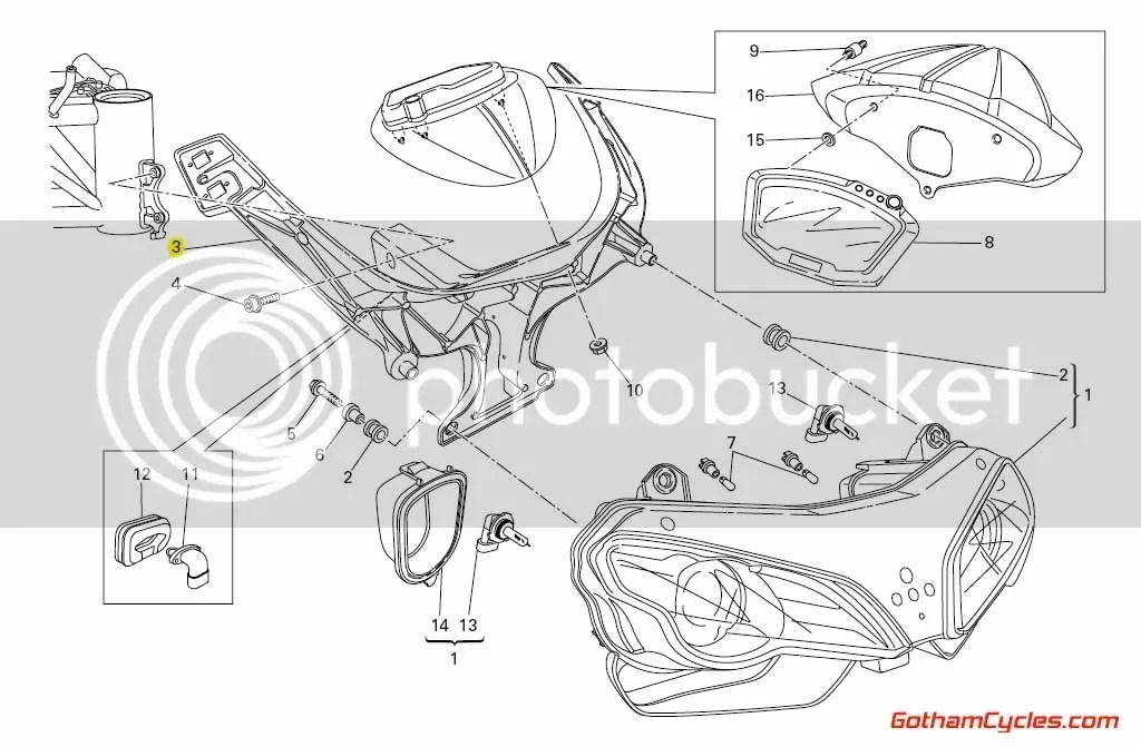 Ducati Headlight Bucket / Front Stay: 848/1098 SUPERBIKE