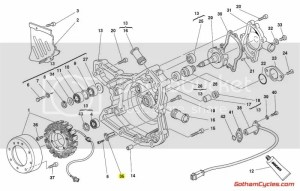 Ducati Alternator Stator Bracket Early Style SUPERBIKE 748 748S 748R 916 916SPS 996 996S 996SPS