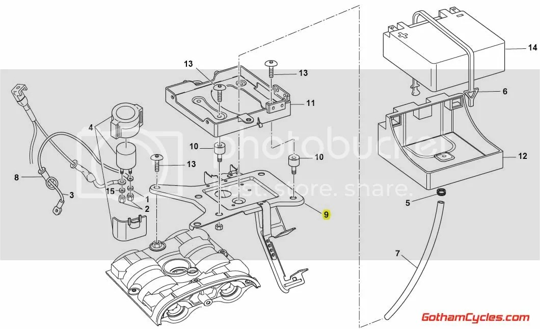 Ducati Battery Tray Bracket: Monster S4R/S4RS 83013961A