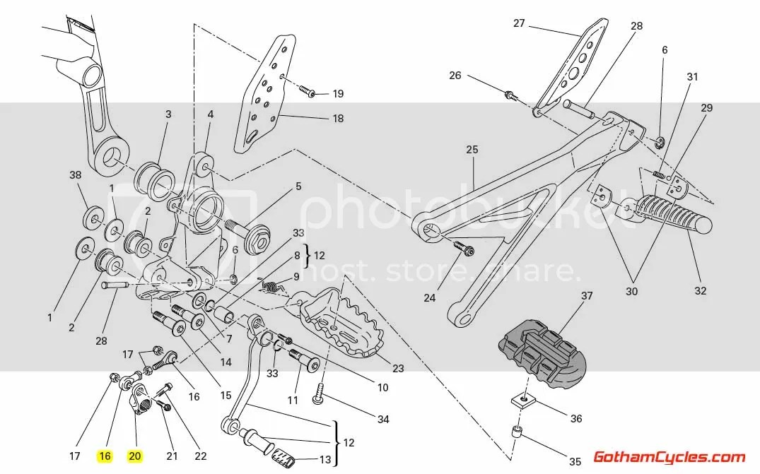 Ducati Shift Lever Linkage / Gearchange Control Lever